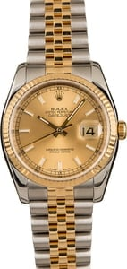 Used Rolex Two Tone Datejust 116233 Champagne Dial