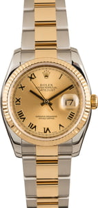 PreOwned Rolex Datejust 116233 Champagne Roman Dial