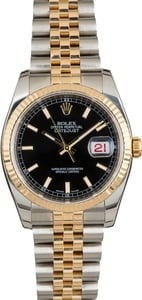 PreOwned Rolex Datejust 116233 Black Index Dial