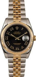 Pre-Owned Rolex Datejust 116233 Black Sunbeam Dial