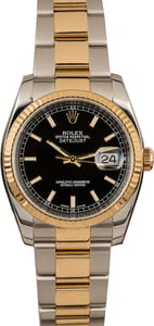 Pre-Owned Rolex Datejust 116233 Black Index Dial