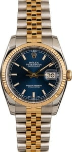 Pre-Owned Rolex Datejust 116233 Blue Index Dial