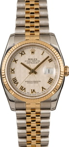 Pre-Owned Rolex Datejust 116233 Ivory Pyramid Dial