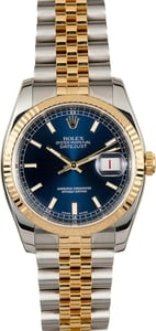 Rolex Datejust 116233 Blue Index Dial