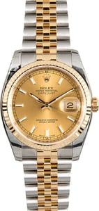 Rolex Datejust 116233 Champagne Index Dial