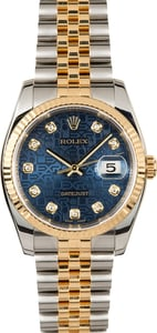Rolex Datejust 116233 Diamond Jubilee Blue Dial