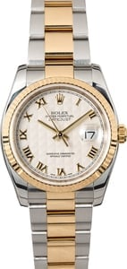 Rolex Datejust 116233 Ivory Pyramid Dial