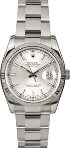 Rolex Datejust 116234 Silver Luminescent Dial