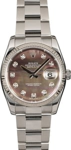 Rolex Datejust 116234 Black MOP Diamond Dial