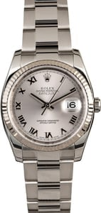 Rolex Datejust 116234 Rhodium Steel Oyster
