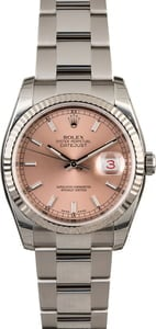 Rolex Datejust 116234 Pink Index Dial