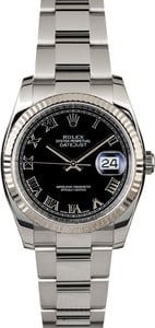 Used Rolex Datejust 116234 Black Dial