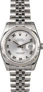 Men's Rolex Datejust 116234 Rhodium Roman
