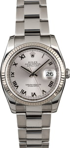 Used Rolex Datejust 116234 Rhodium Dial Steel Oyster