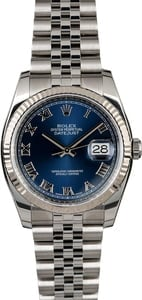 PreOwned Rolex Datejust 116234 Blue Dial