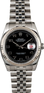 Rolex Datejust 116234 Black Arabic Dial