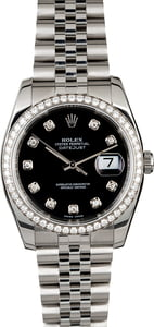Rolex Datejust 116234 Black Diamond Dial & Bezel