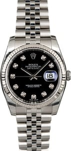 Used Rolex Datejust 116234 Black Diamond Dial