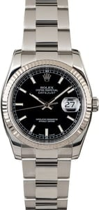 Used Rolex Datejust 116234 Black Dial Steel Oyster