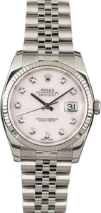 Rolex Datejust 116234 Rose Quartz Diamond Dial