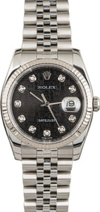 PreOwned Rolex Datejust 116234 Black Jubilee Diamond Dial