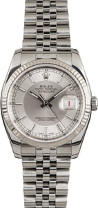 PreOwned Rolex Datejust 116234 Silver Tuxedo Dial