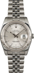 Datejust Rolex 116234 White Gold Bezel Pre Owned