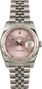 Rolex Datejust 116234 Luminous Pink Index Dial