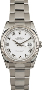 Used Rolex Datejust 116234 White Dial
