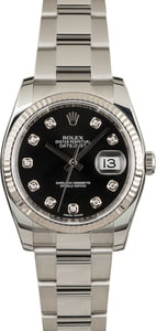 Used Rolex Datejust 116234 Diamonds