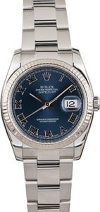 PreOwned Rolex Datejust 116234 Blue Dial Oyster
