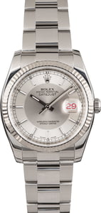Pre Owned Rolex Datejust 116234 Silver Tuxedo Dial