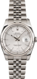 PreOwned Rolex Datejust 116234 Silver Dial Steel Jubilee