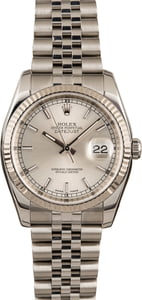 Pre-Owned Rolex Datejust 116234 Silver Luminescent Dial