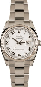 Used Rolex Datejust 116234 Roman Markers