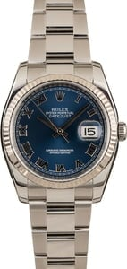 Pre-Owned Rolex Datejust 116234 Blue Roman Dial
