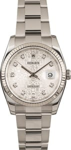 Pre Owned Rolex Datejust 116234 Silver Jubilee Dial
