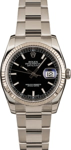 Pre Owned Rolex Datejust 116234 Black Dial