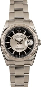 Pre-Owned Rolex 36MM Datejust 116234 Tuxedo Dial