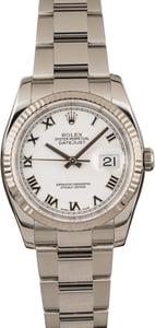 Pre-Owned Rolex Datejust 116234 White Dial