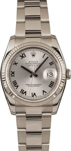 Pre-Owned Rolex Datejust 116234 Silver Roman Dial