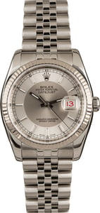 Pre-Owned 36MM Rolex Datejust 116234 Tuxedo Dial