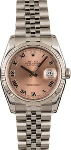 Pre-Owned Rolex Datejust 116234 Pink Roman Dial