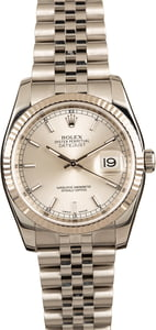 Pre-Owned Rolex Datejust 116234 Silver Luminous Dial