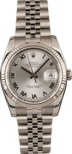 Pre-Owned Rolex Datejust 116234 Silver Dial Watch