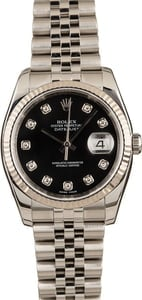 Pre-Owned Rolex Datejust 116234 Black Diamond Dial