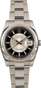 Pre-Owned Rolex Datejust 116234 Tuxedo Dial Watch