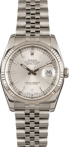 Used Rolex Steel Datejust 116234 Silver Dial