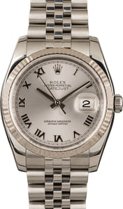 PreOwned Rolex Datejust 116234 Silver Dial