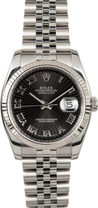 Rolex Datejust 116234 Black Sunbeam